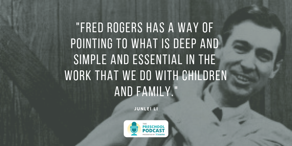 Fred Rogers has a way of pointing to what is deep and simple and essential in the work that we do with children and the family.