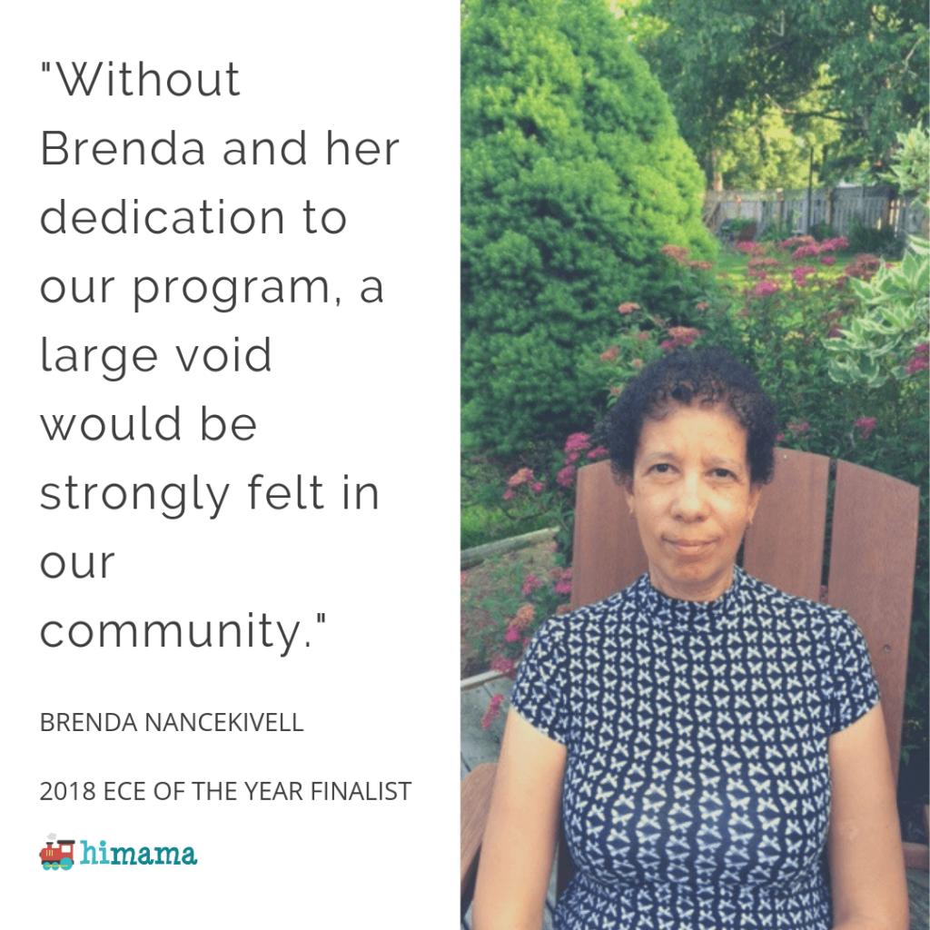 Brenda Nancekivell - 2018 Early Childhood Educator of the Year Finalist