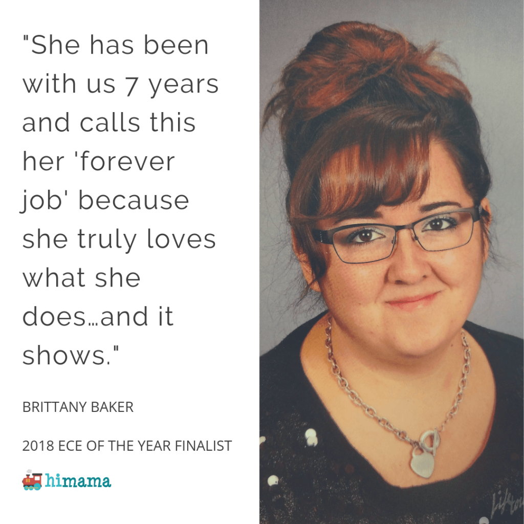Brittany Baker - 2018 Early Childhood Educator of the Year Award Finalist