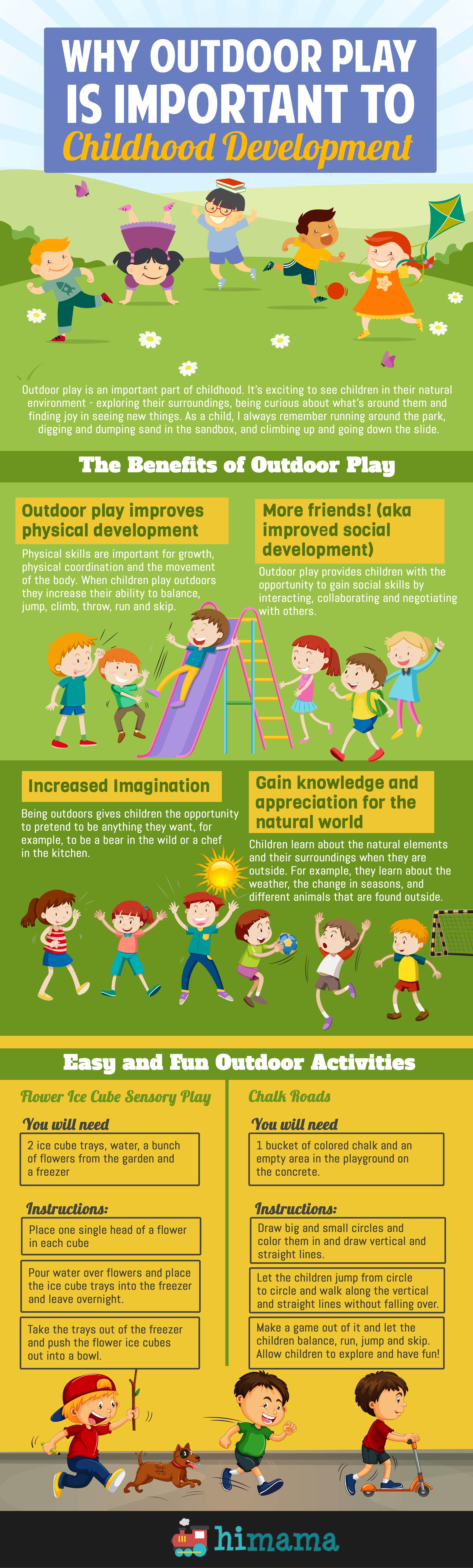 why outdoor play is important to childhood development