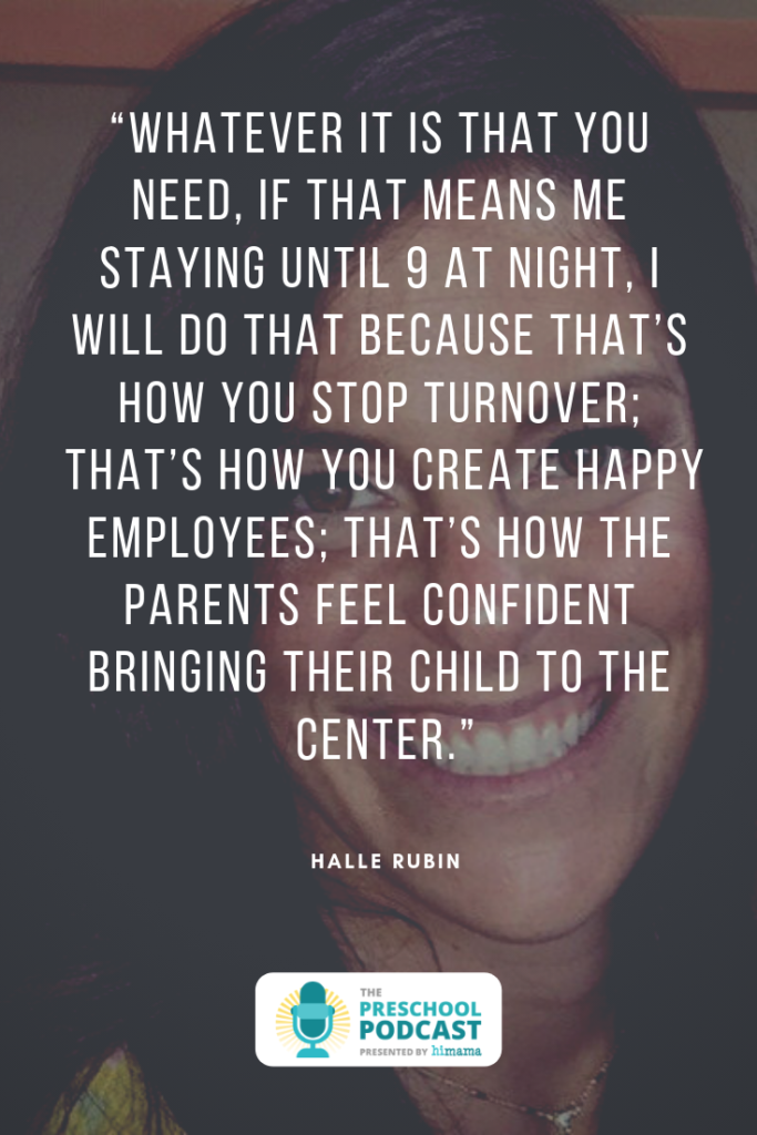 halle rubin preschool podcast quote