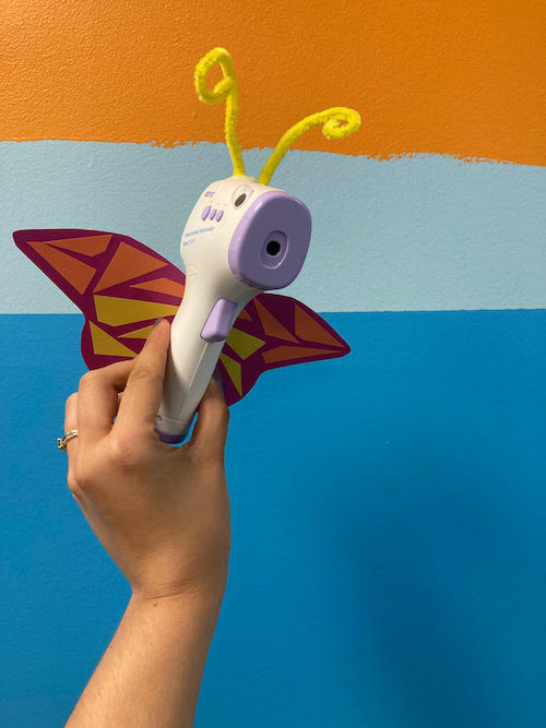 thermometer butterfly for children