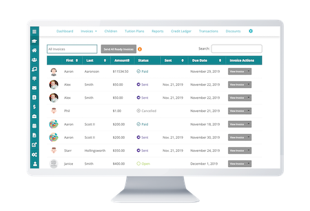 payment statuses in HiMama