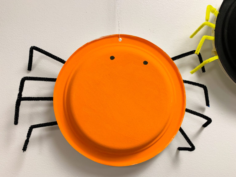 paper plate spider