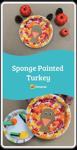 sponge painted turkey