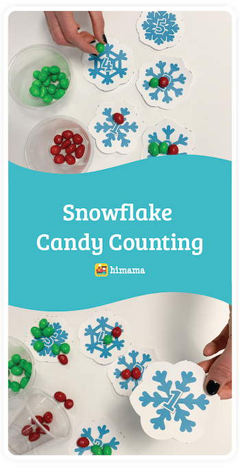 snowflake candy counting daycare activity