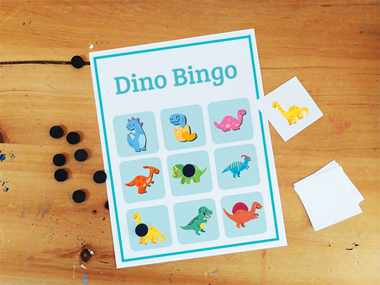 dinosaur bingo preschool activity