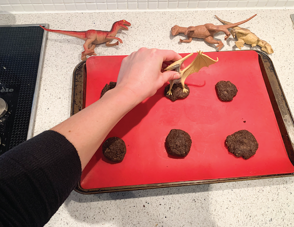 dinosaur fossils preschool activity