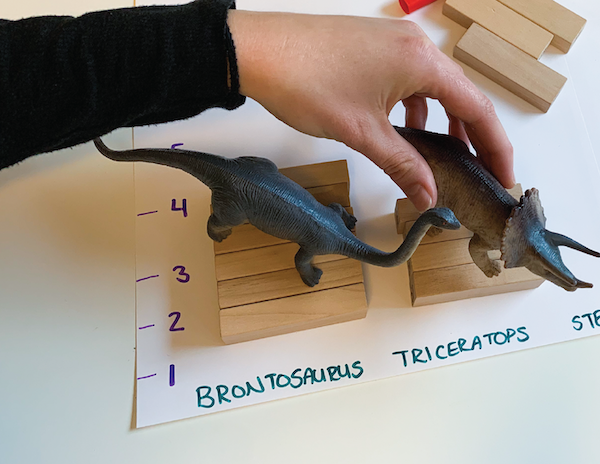dinosaur measurements preschool activity