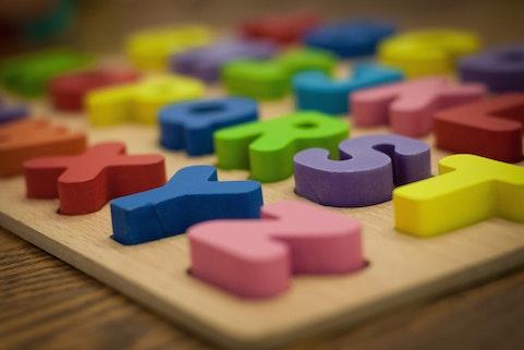 alphabet bin sensory activity
