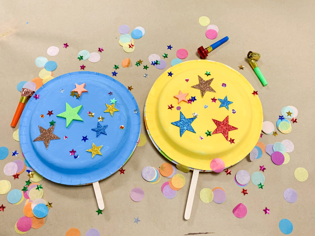 new years eve noisemaker fine motor activity