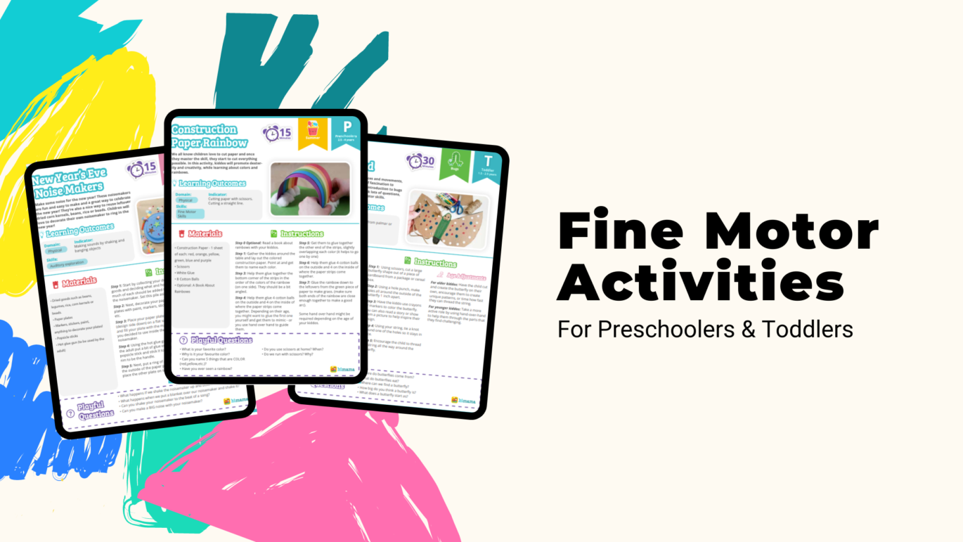 fine motor activities for preschoolers and toddlers