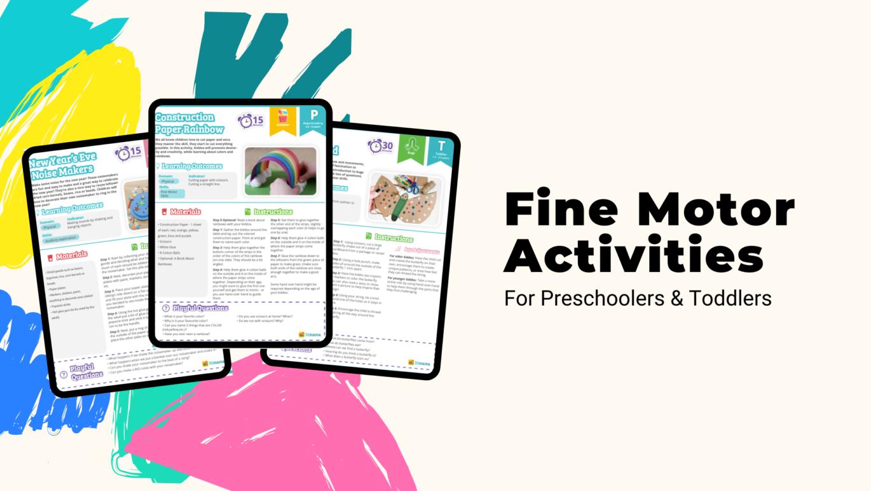 fine motor activities for preschoolers and toddlers