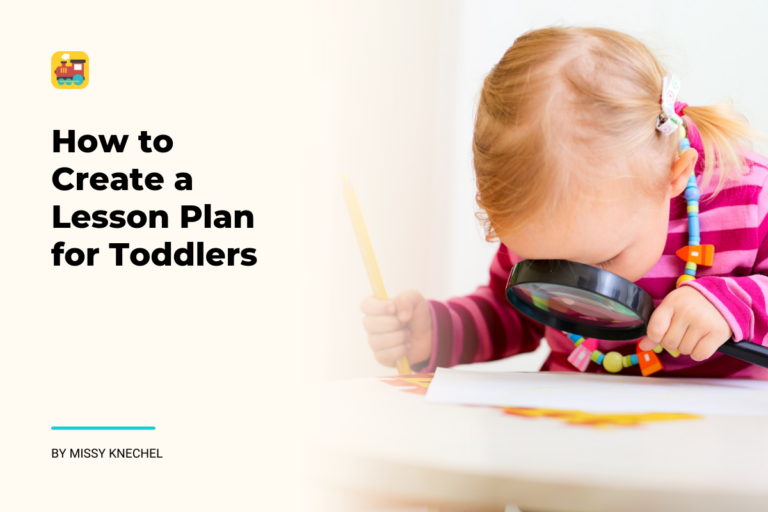 how to create a toddler lesson plan